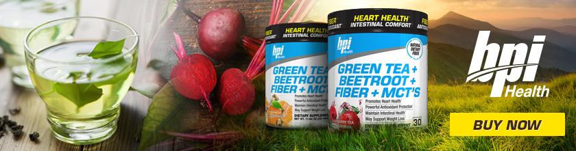 green tea + beetroot + fiber + MCTs