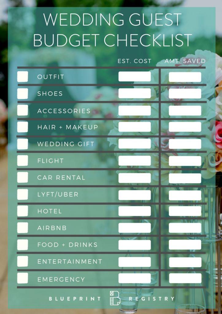 wedding guest budget checklist pdf