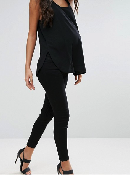 ASOS Maternity Petite Skinny Jeans In With Under The Bump Waistband