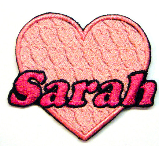 Pink Heart Custom Personalized Patch