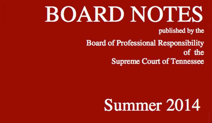 Board notes summer 2014