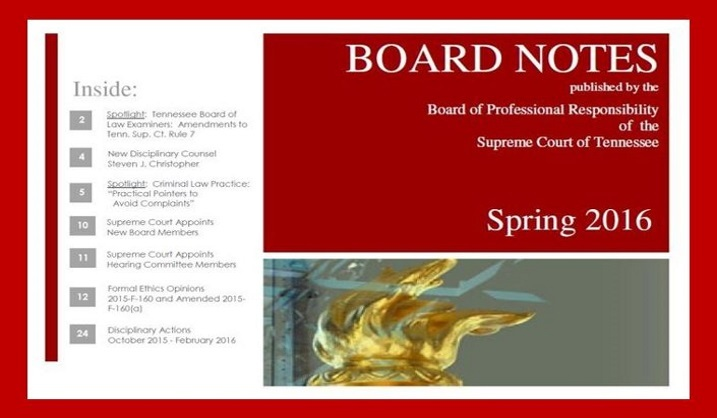 Board notes spring 2016