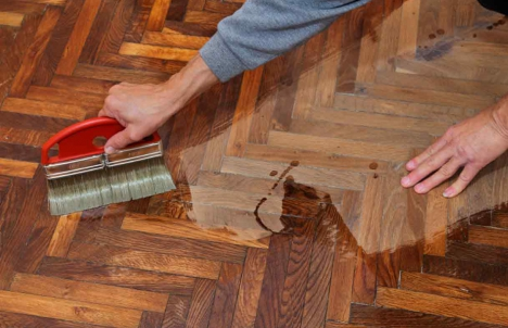 Repair a hardwood floor