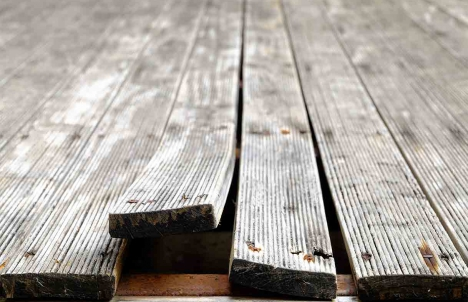 deteriorating deck boards