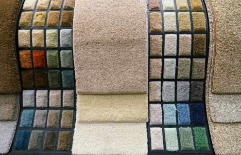 colorful swatches of carpet