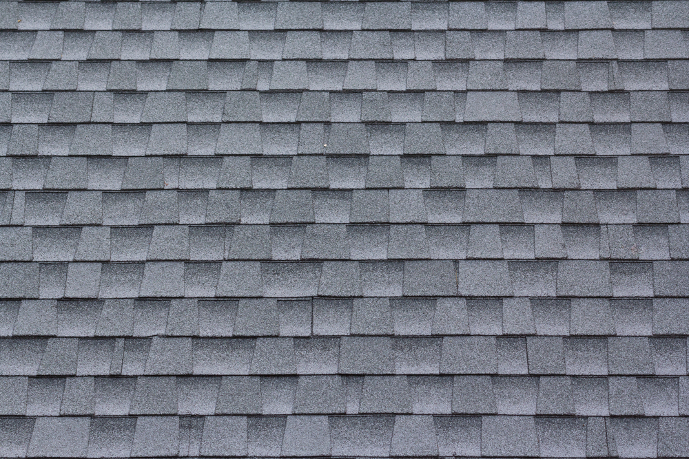 Gray asphalt shingles
