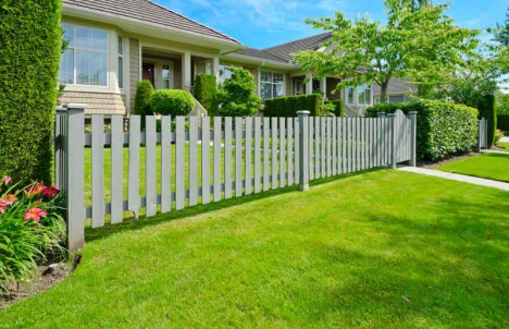Fence in front of house