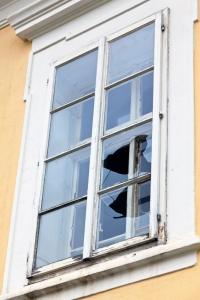 Window Broken During a Storm