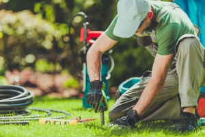 Professional sprinkler service to get ready for winter
