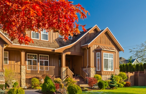 Beautiful home in the fall