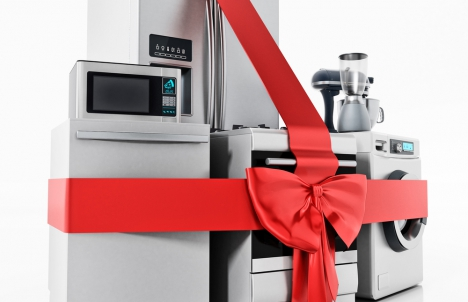 New Appliances Wrapped in Bows