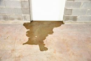 Water leak under door