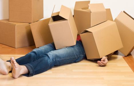 Man Feeling Moving Stress