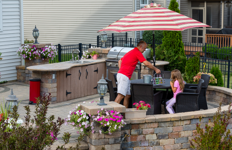 Cooking in a Backyard Kitchen