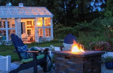 Cozy Backyard Fire Pit