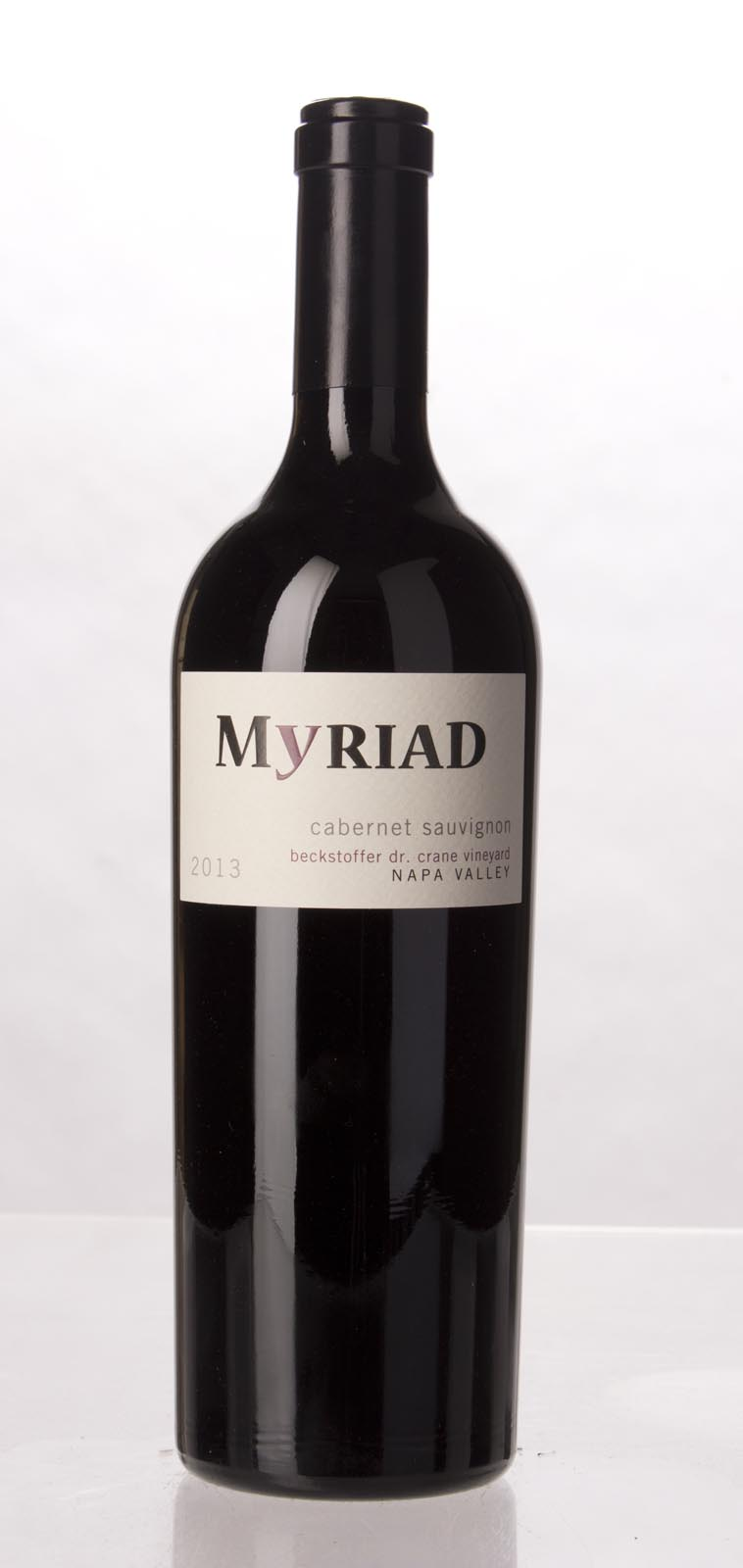 Myriad Cellars Cabernet Sauvignon Beckstoffer Dr. Crane Vineyard 2013, 750mL (WA98) from The BPW - Merchants of rare and fine wines.