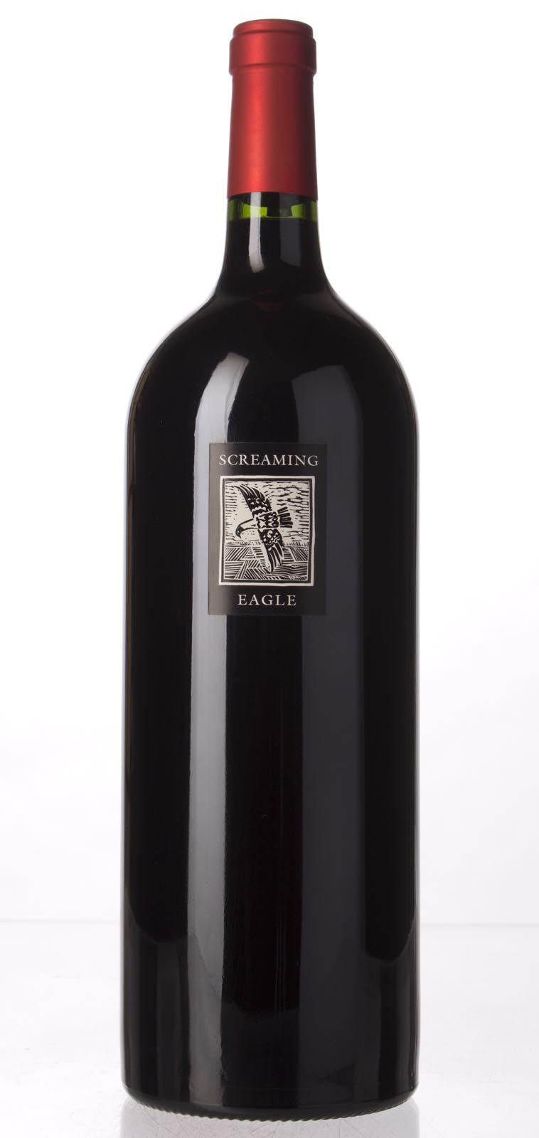Screaming eagle wine label