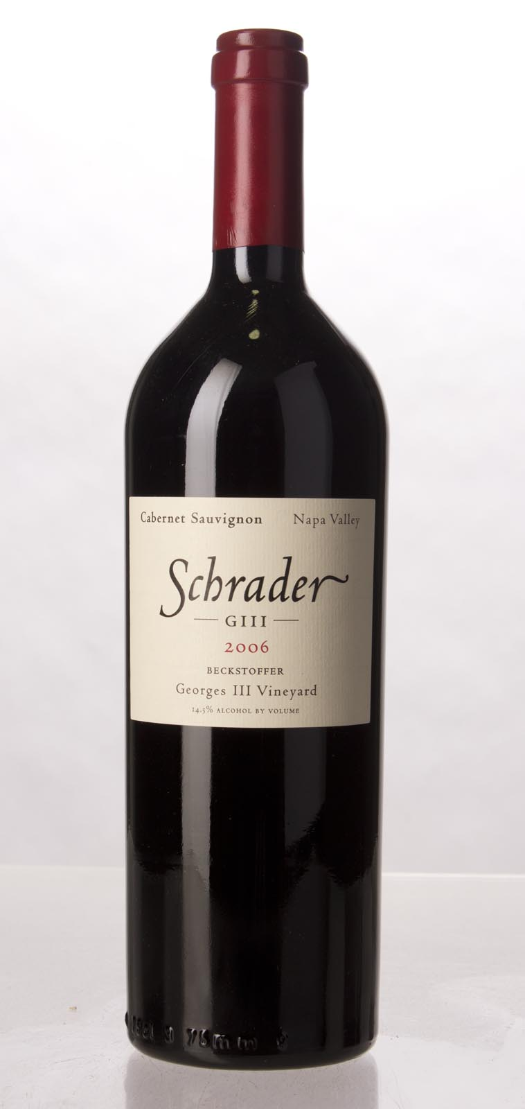 Schrader Cellars Cabernet Sauvignon Beckstoffer George III Vineyard 2006, 750mL (WA95, WS96) from The BPW - Merchants of rare and fine wines.