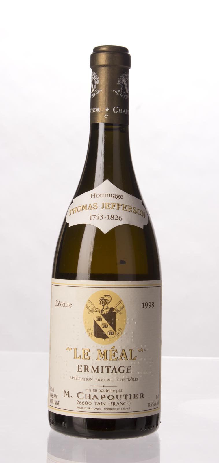 Chapoutier Ermitage le Meal Blanc 1998, 750mL (WA96) from The BPW - Merchants of rare and fine wines.