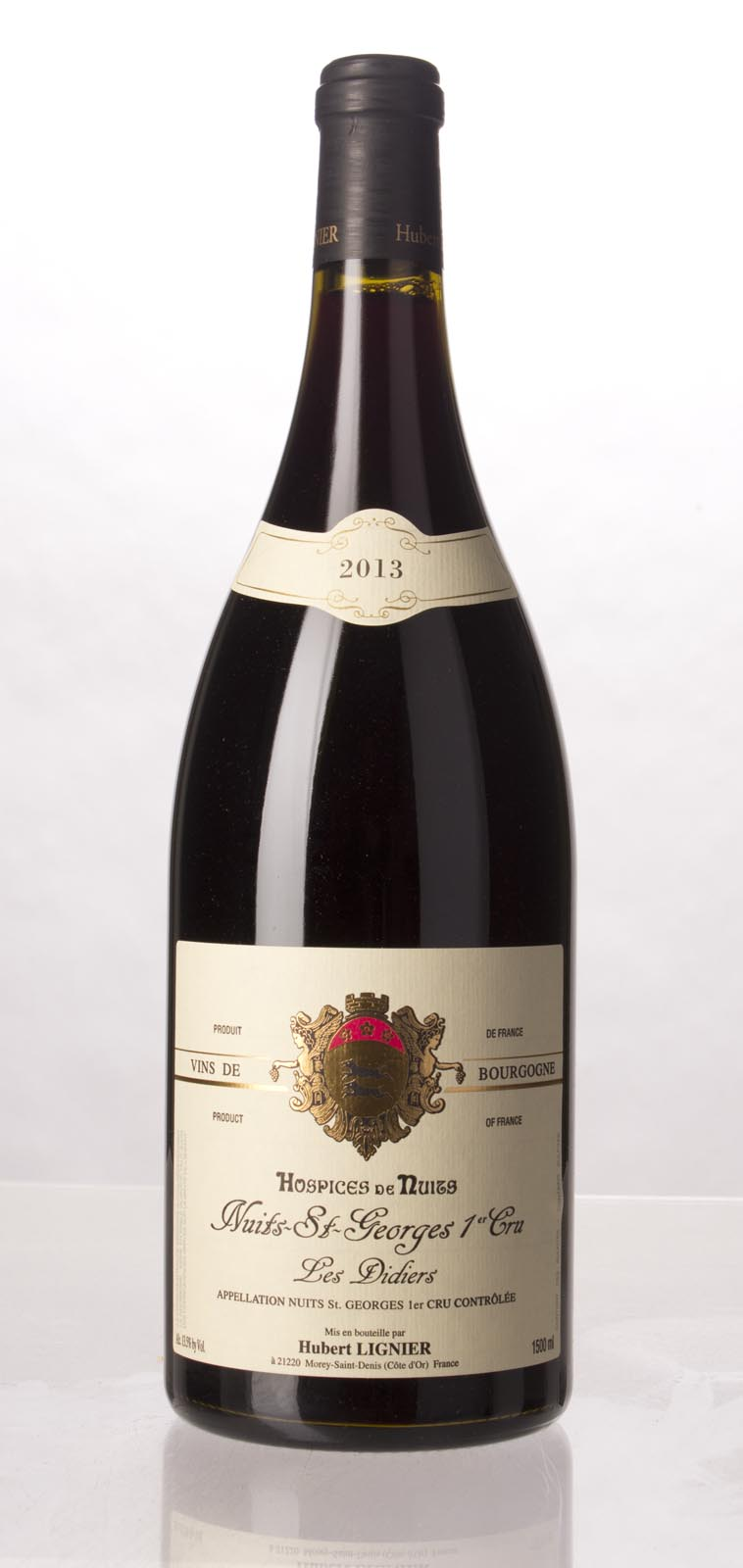 Domaine Hubert Lignier Nuits St. Georges les Didiers Hospices de Nuits 2013, 1.5L () from The BPW - Merchants of rare and fine wines.