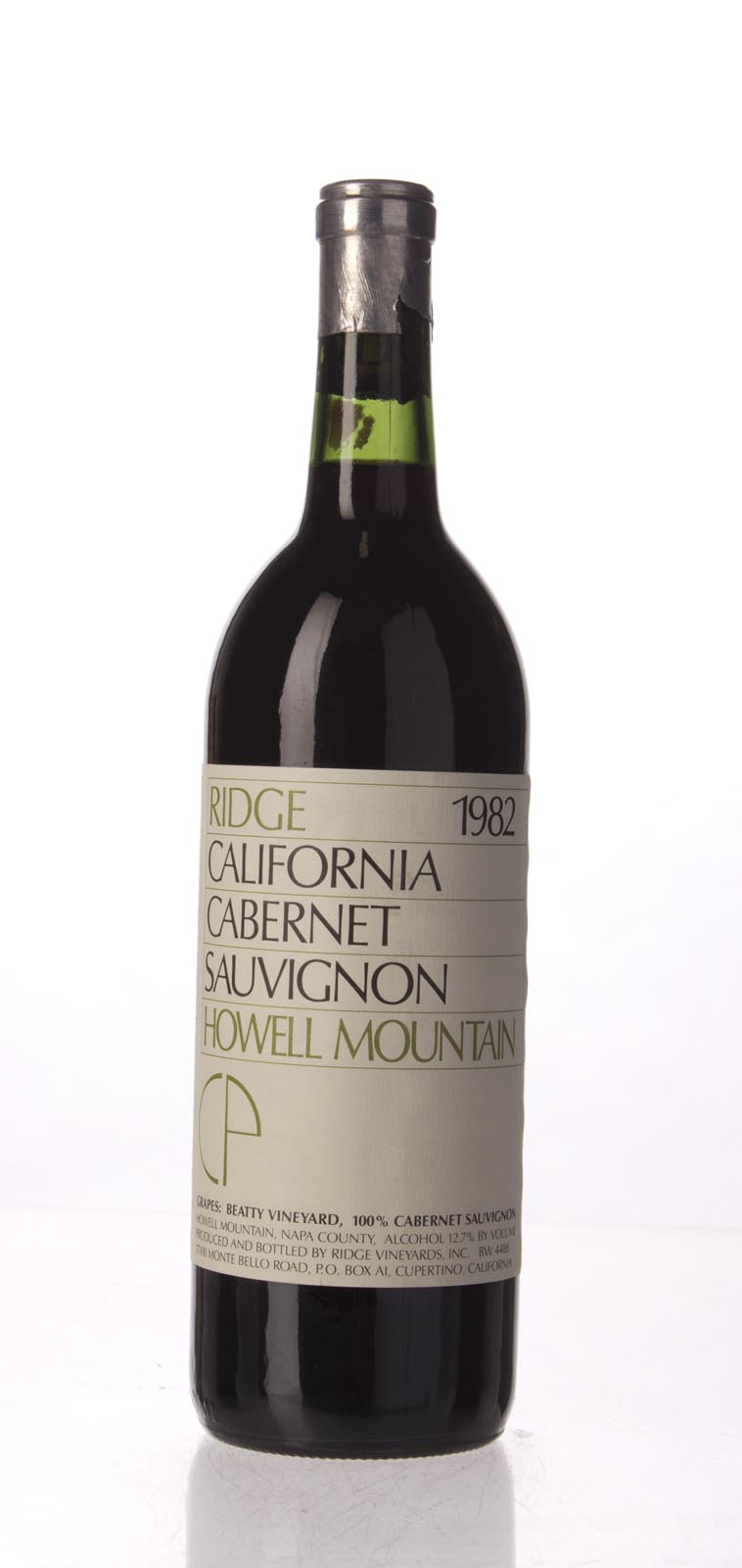 Ridge Cabernet Sauvignon Howell Mountain 1982, 750mL () from The BPW - Merchants of rare and fine wines.