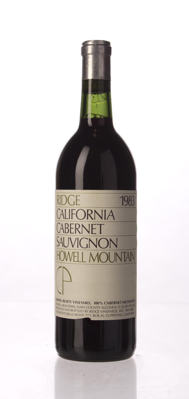Ridge Cabernet Sauvignon Howell Mountain 1983, 750mL () from The BPW - Merchants of rare and fine wines.