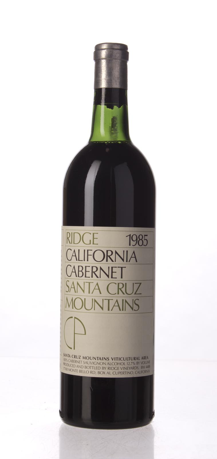 Ridge Cabernet Sauvignon Santa Cruz Mountains 1985, 750mL () from The BPW - Merchants of rare and fine wines.
