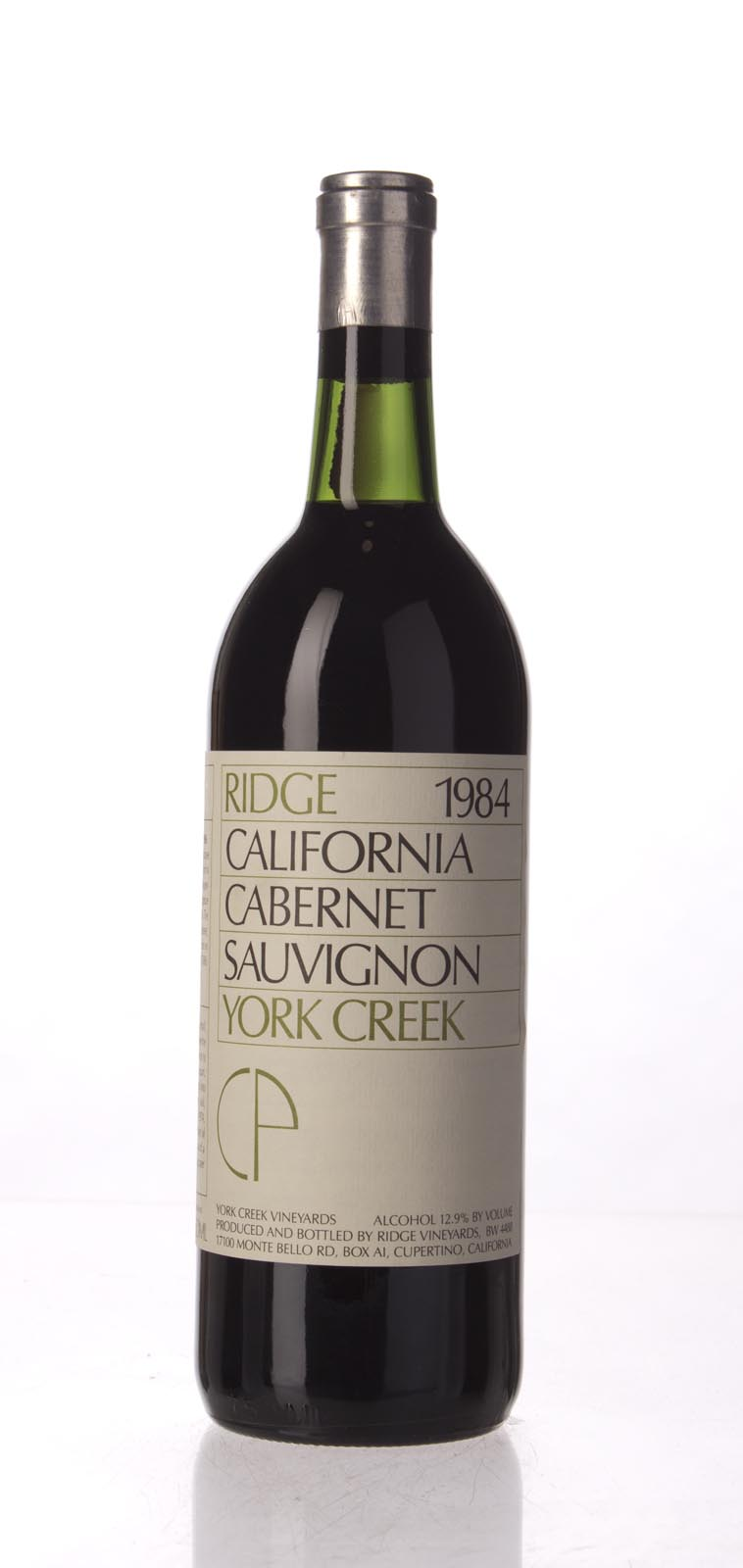 Ridge Cabernet Sauvignon York Creek 1984, 750mL () from The BPW - Merchants of rare and fine wines.