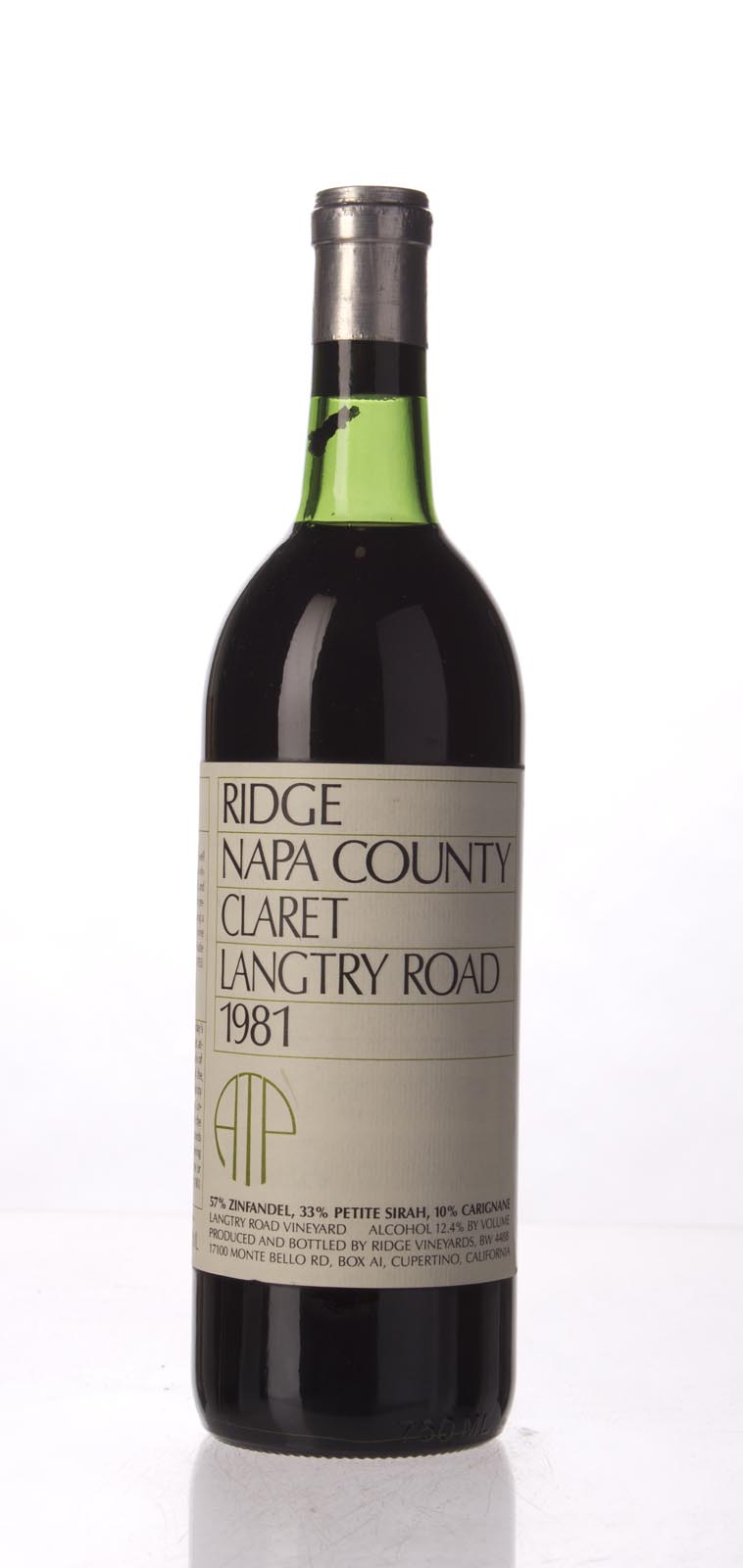 Ridge Claret Langtry Road 1981, 750mL () from The BPW - Merchants of rare and fine wines.