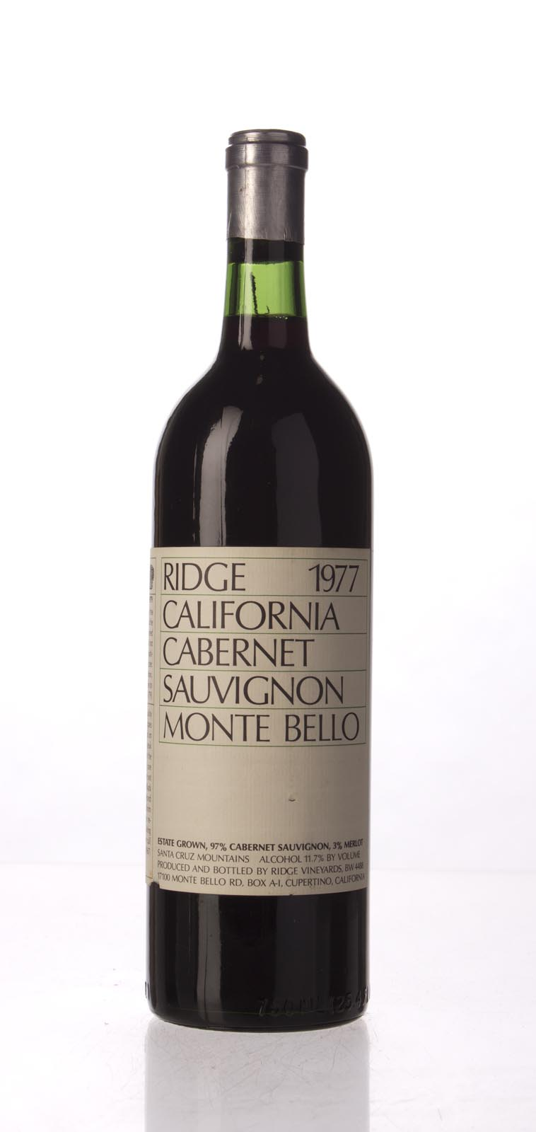Ridge Monte Bello 1977,  (WA92) from The BPW - Merchants of rare and fine wines.