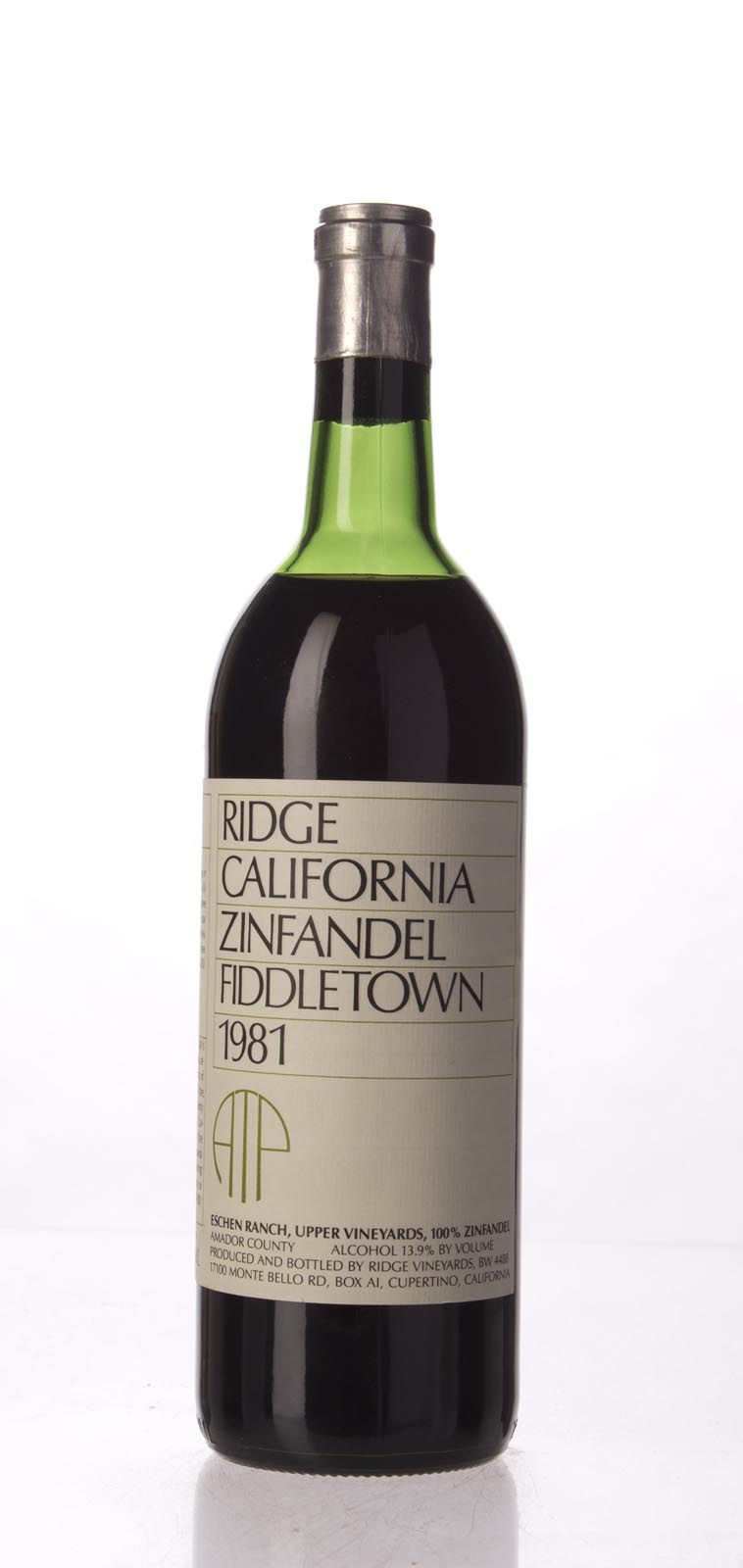 Ridge Proprietary Red Fiddletown 1981, 750mL () from The BPW - Merchants of rare and fine wines.