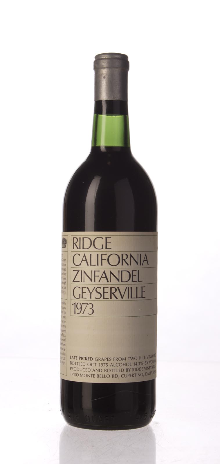 Ridge Proprietary Red Geyserville 1973, 750mL () from The BPW - Merchants of rare and fine wines.