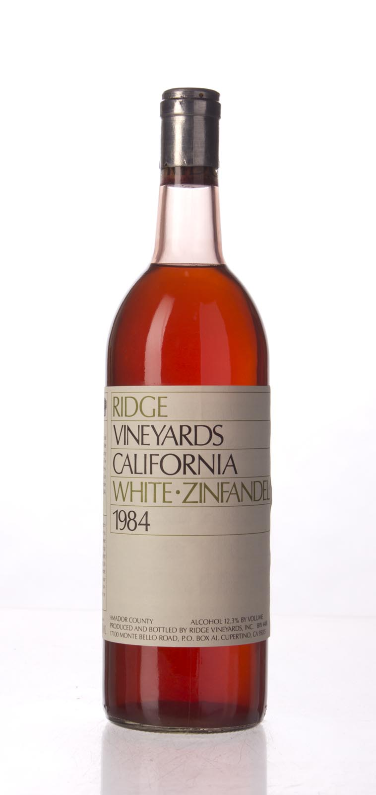 Ridge White Zinfandel 1984, 750mL () from The BPW - Merchants of rare and fine wines.