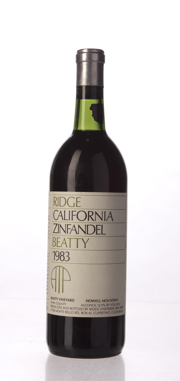 Ridge Zinfandel Beatty Vineyard 1983, 750mL () from The BPW - Merchants of rare and fine wines.