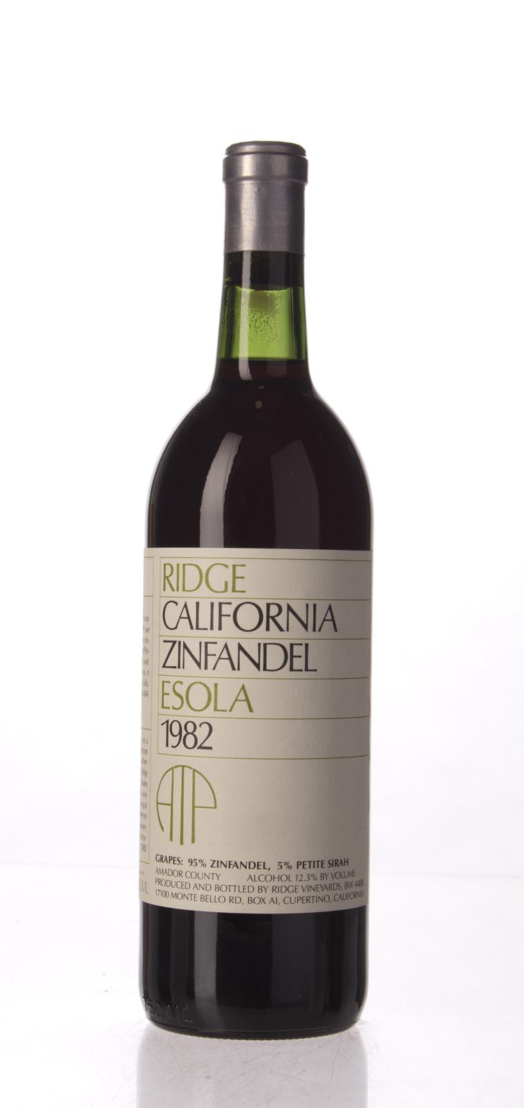 Ridge Zinfandel Esola Vineyard 1982, 750mL () from The BPW - Merchants of rare and fine wines.