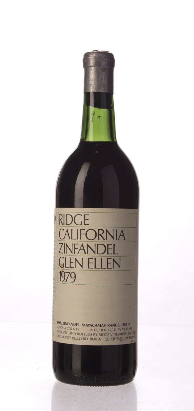 Ridge Zinfandel Glen Ellen 1979, 750mL () from The BPW - Merchants of rare and fine wines.