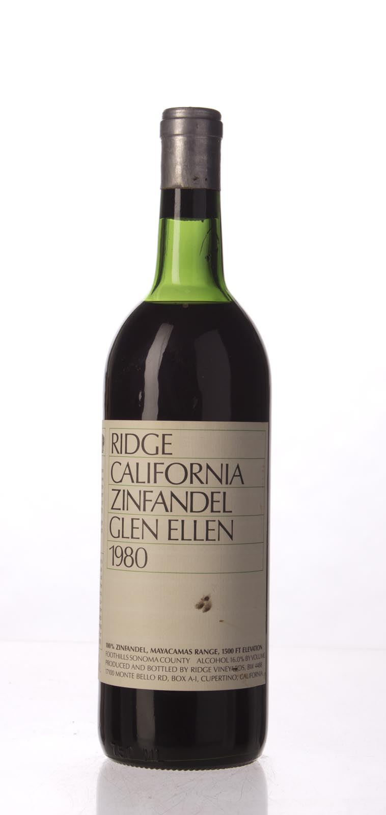 Ridge Zinfandel Glen Ellen 1980, 750mL () from The BPW - Merchants of rare and fine wines.