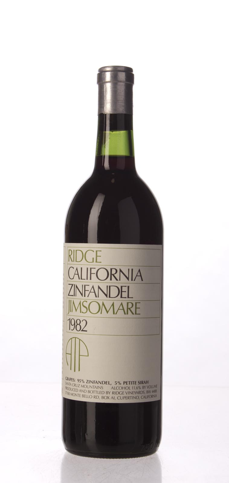 Ridge Zinfandel Jimsonare 1982, 750mL () from The BPW - Merchants of rare and fine wines.