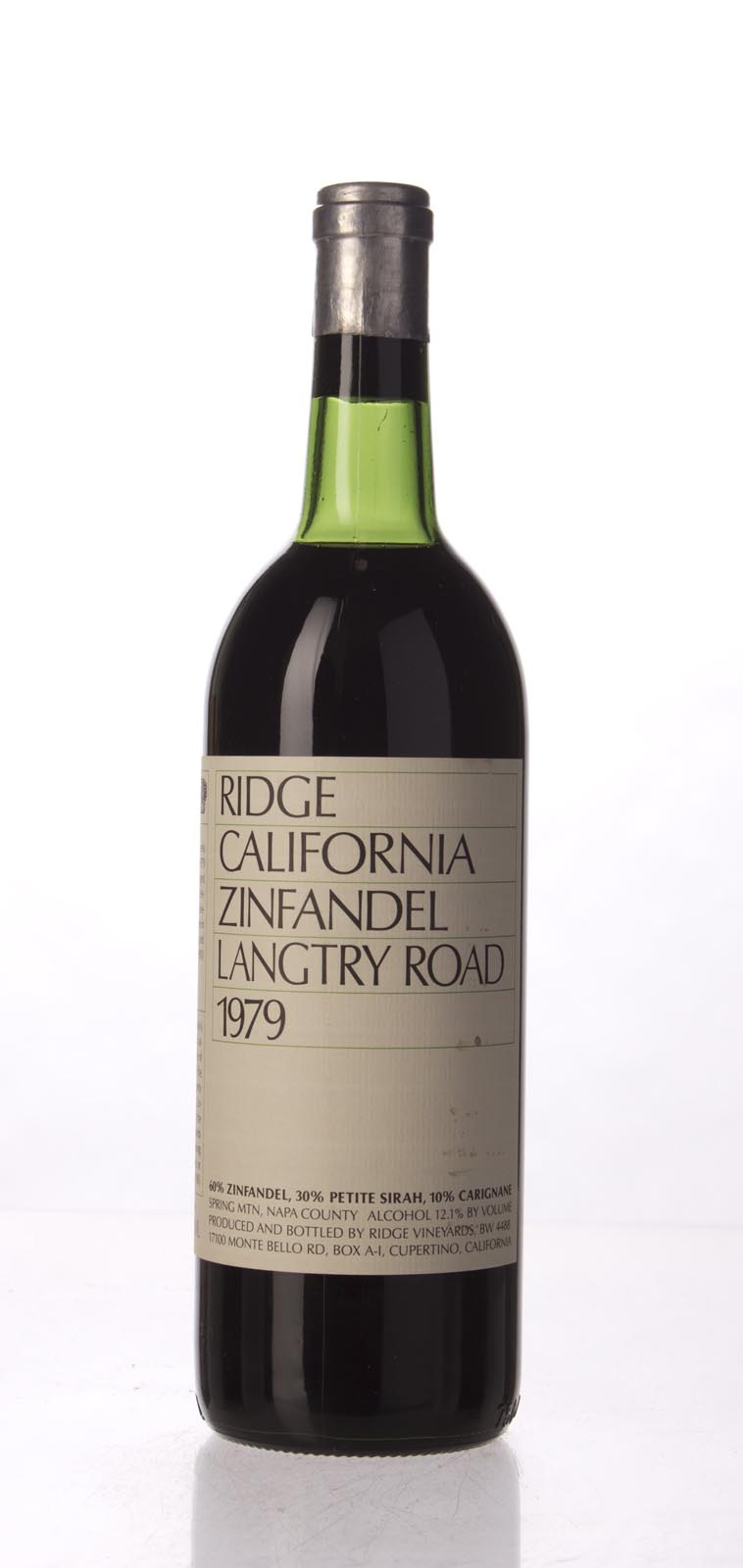 Ridge Zinfandel Langtry Road 1979, 750mL () from The BPW - Merchants of rare and fine wines.