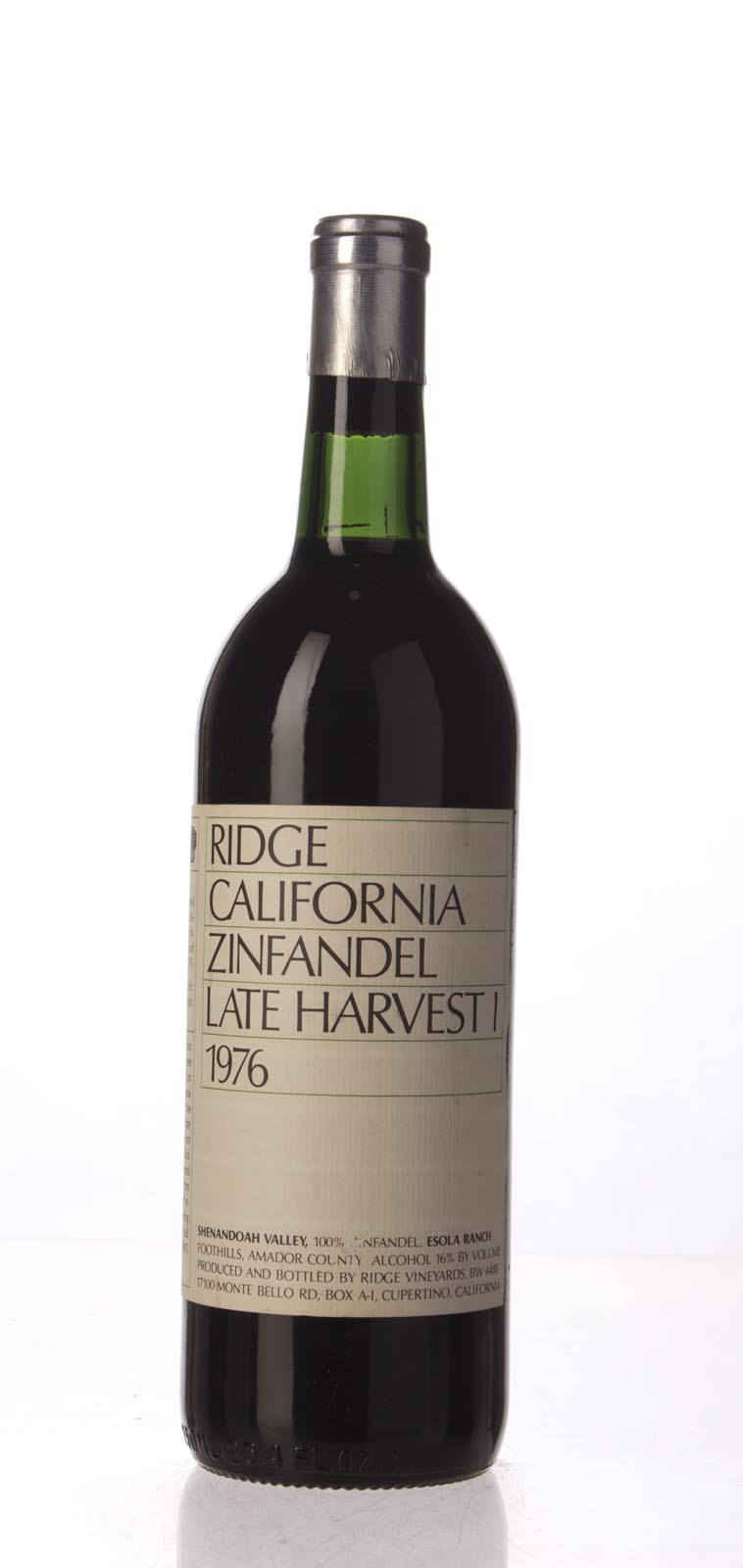 Ridge Zinfandel Late Harvest 1976, 750mL () from The BPW - Merchants of rare and fine wines.