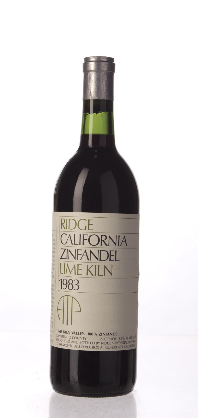 Ridge Zinfandel Lime Kiln 1983, 750mL () from The BPW - Merchants of rare and fine wines.