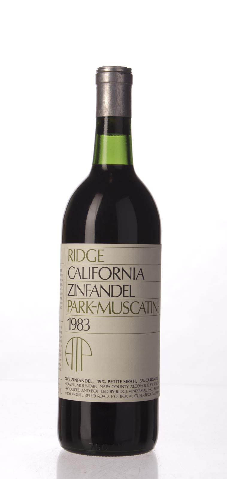Ridge Zinfandel Park Muscatine 1983, 750mL () from The BPW - Merchants of rare and fine wines.