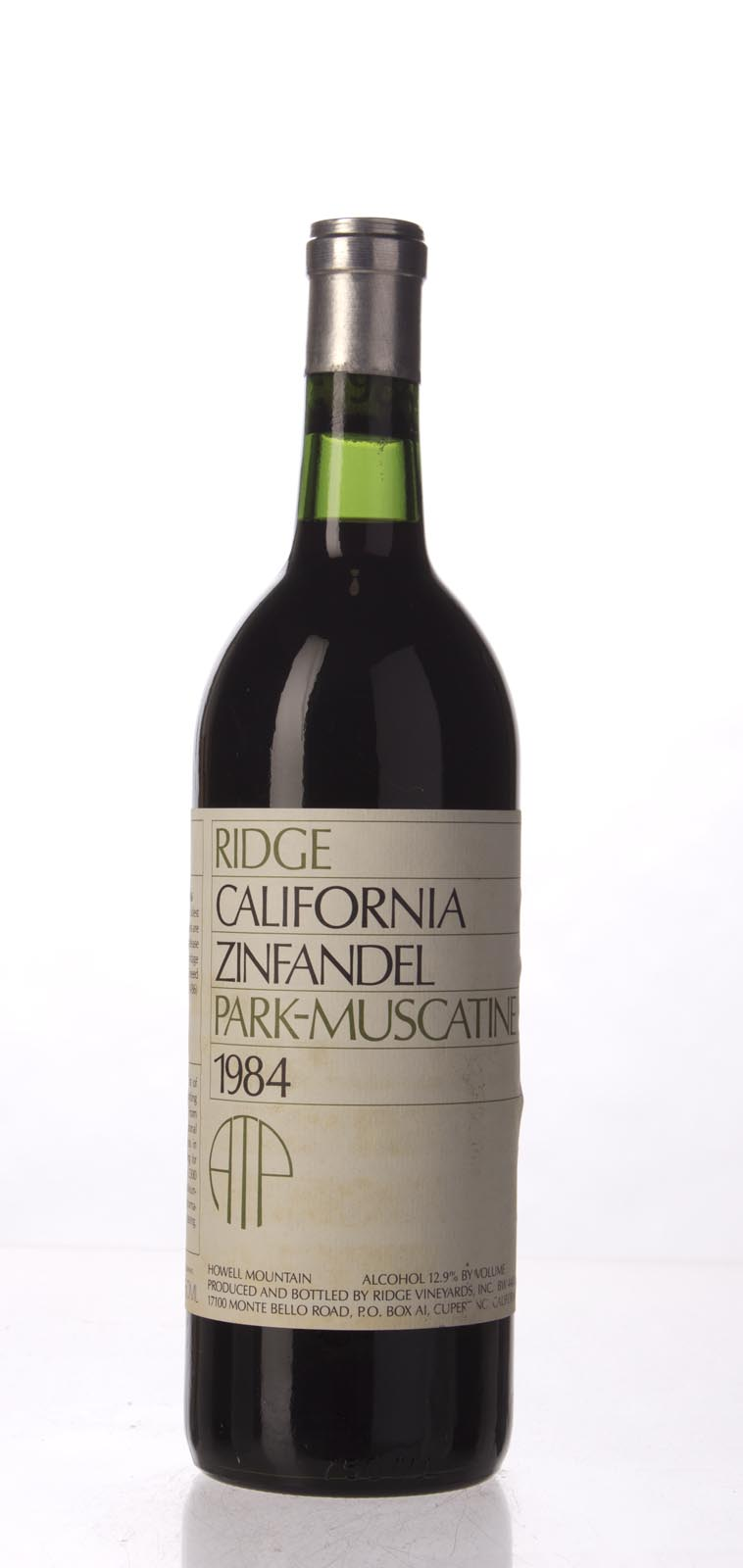 Ridge Zinfandel Park Muscatine 1984, 750mL (WA96) from The BPW - Merchants of rare and fine wines.