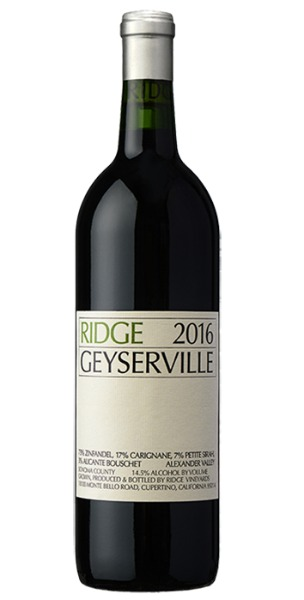 Ridge Geyserville 2016,  (V91-94) from The BPW - Merchants of rare and fine wines.
