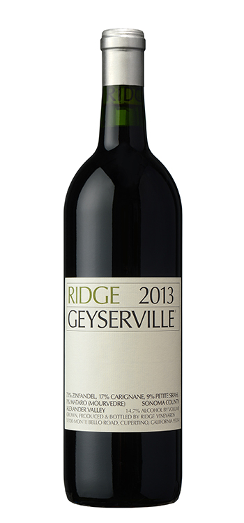 Ridge Proprietary Red Geyserville 2013,  (Vinous 94) from The BPW - Merchants of rare and fine wines.