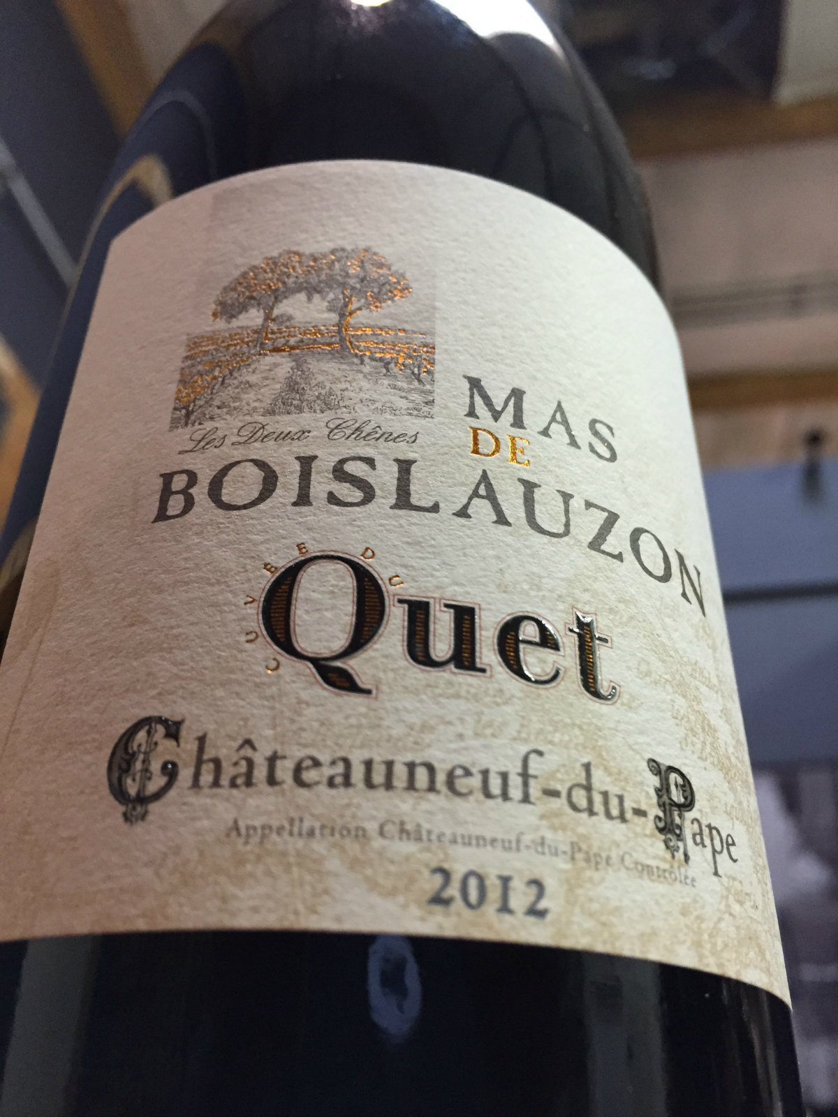 Mas de Boislauzon Chateauneuf du Pape Cuvee du Quet 2012,  (WA96) from The BPW - Merchants of rare and fine wines.