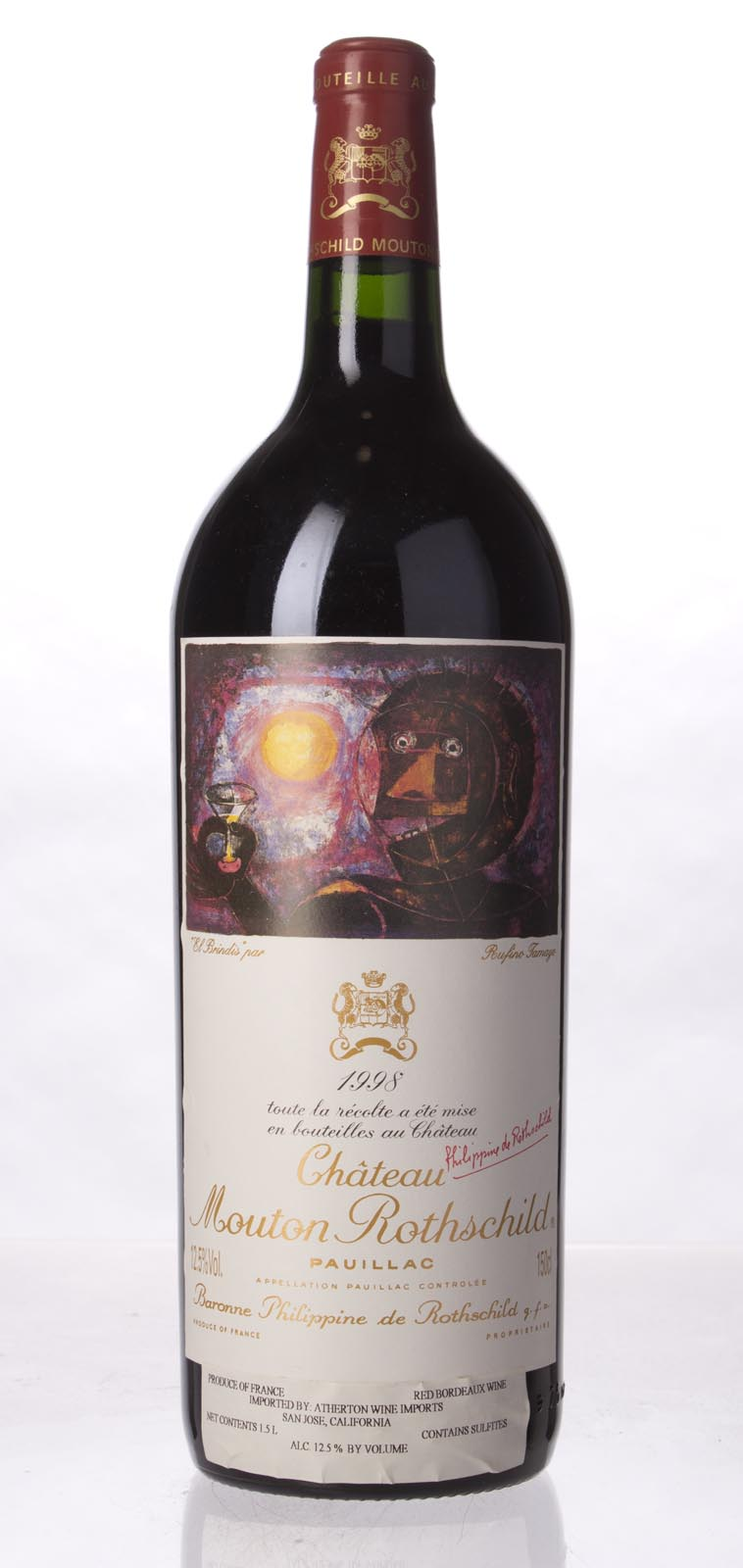 Mouton Rothschild 1998, 1.5L (WA96) from The BPW - Merchants of rare and fine wines.