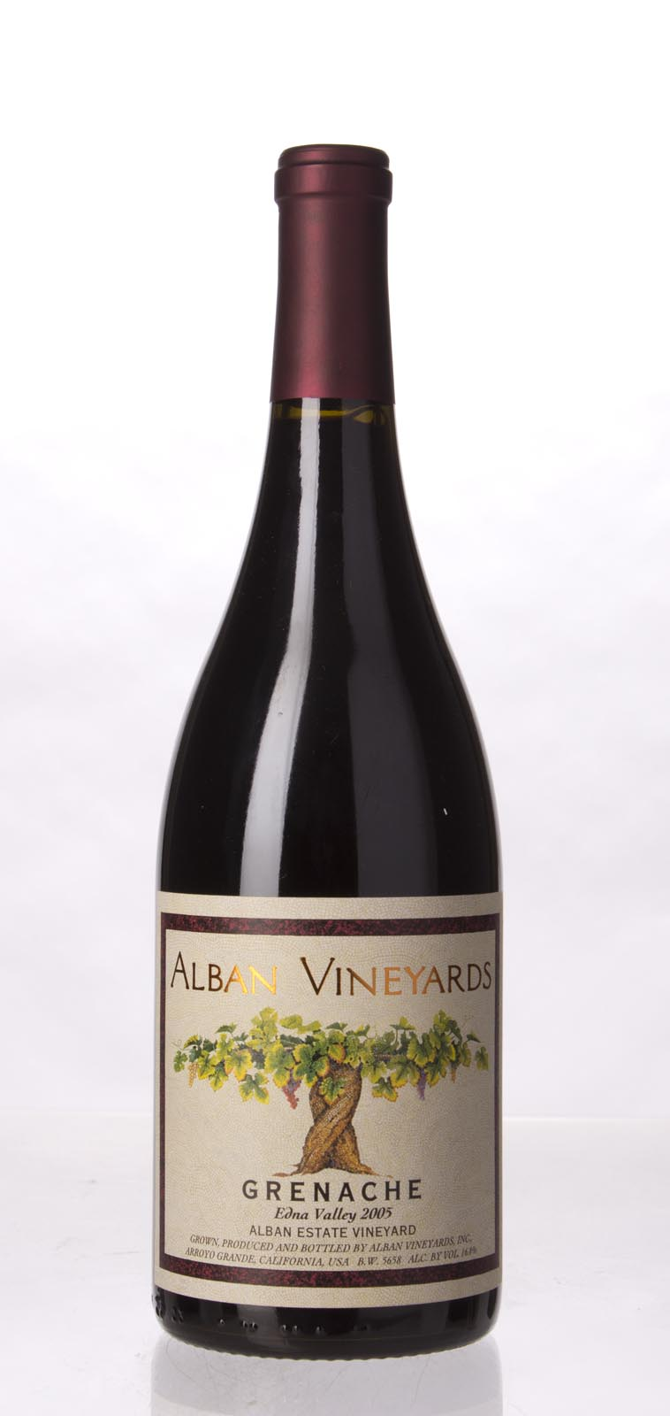 Alban Vineyards Grenache Alban Estate Vineyard 2005, 750mL (ST94, WS93) from The BPW - Merchants of rare and fine wines.