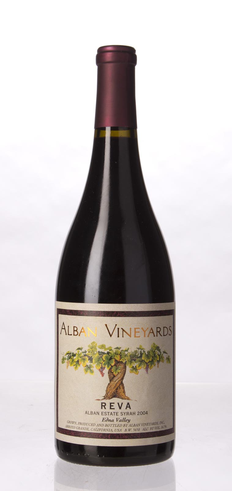 Alban Vineyards Syrah Reva Alban Estate Vineyard 2004, 750mL (WA96, WS94) from The BPW - Merchants of rare and fine wines.