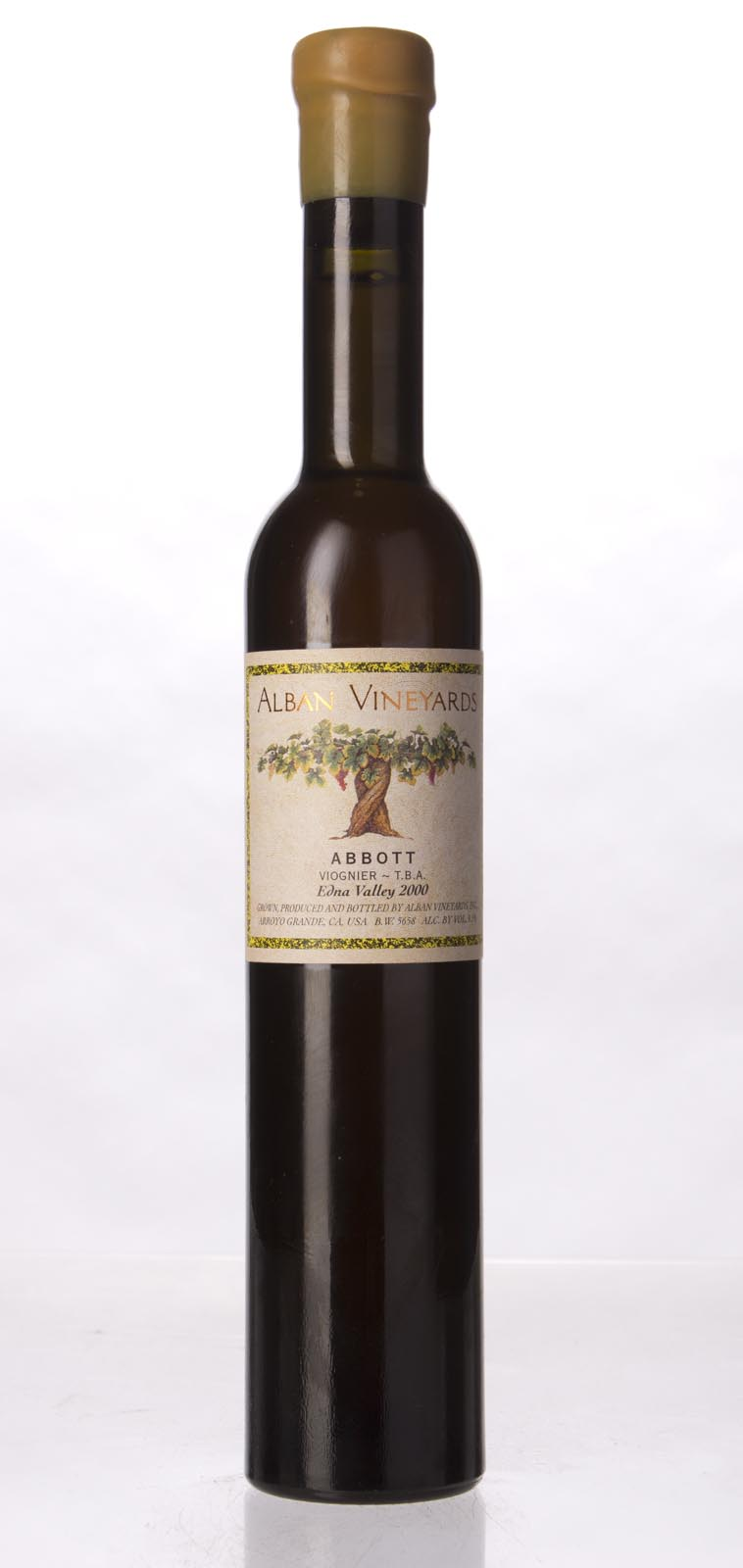 Alban Vineyards Viognier Abbott TBA 2000, 375mL (ST90) from The BPW - Merchants of rare and fine wines.